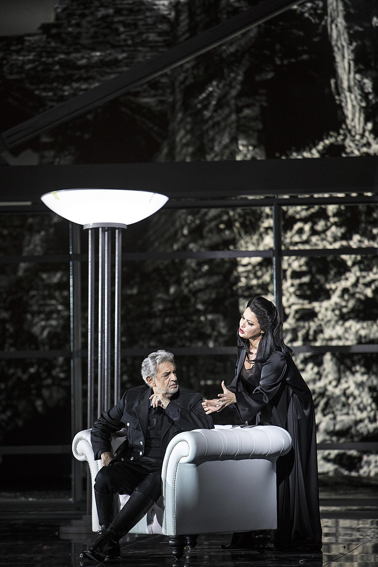 Plácido Domingo (Macbeth), Anna Netrebko (Lady Macbeth) | Foto © Bernd Uhlig | Macbeth 30